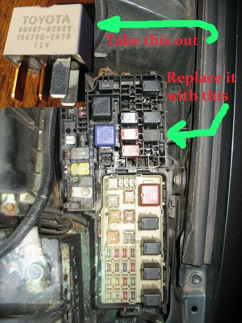 toyota camry a c button flashing blinking repair it for 13 99 use it to replace beige color 12v fuse numbered 90987 02022